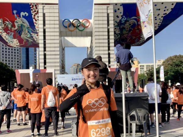 대한체육회 올림픽데이런에 참가한 박주연 주임