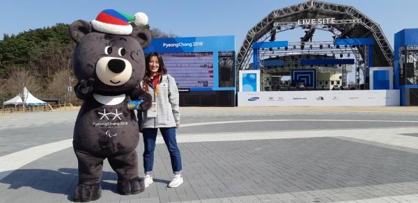 2018 평창 동계올림픽에서. [사진=본인제공]